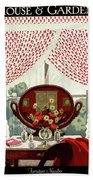 A House And Garden Cover Of A Mirror Hand Towel