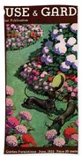 A House And Garden Cover Of Dachshunds With A Hat Hand Towel