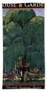 A House And Garden Cover Of People Dining Hand Towel