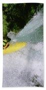 A Kayaker Running A Beautiful Spirit Bath Towel