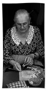 A Lacemaker In Bruges Hand Towel
