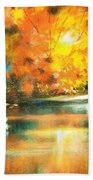 A Light In The Forest Hand Towel
