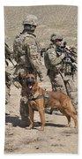 A Military Working Dog Accompanies U.s Bath Towel