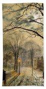 A Moonlit Stroll Bonchurch Isle Of Wight Bath Towel