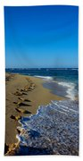 A Morning Walk On A Dominican Beach Bath Towel