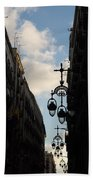 A Necklace Of Barcelona Streetlamps Bath Towel