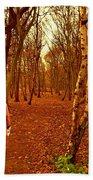 A November Stroll Through Formby Woods Bath Towel