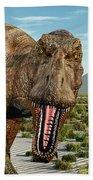 A Pack Of Tyrannosaurus Rex Dinosaurs Bath Towel