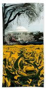 A Painting Jefferson Memorial Dali-style Bath Towel