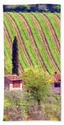 A Painting Tuscan Vineyard Bath Towel
