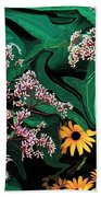 A Painting Wild Flowers Dali-style Bath Towel
