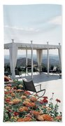 A Pavilion In The Backyard Of Bruce Macintosh's Bath Towel