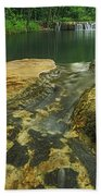 A Peaceful Early Morning At Little Niagra Waterfall A Bath Towel