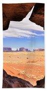 A Peek Into Monument Valley Bath Towel