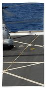 A Plane Captain Signals To A Ch-46e Sea Bath Towel