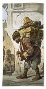A Porter Of Goods, 1865 Hand Towel by Amadeo Preziosi