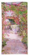 A Rose Arbor And Old Well, Venice Bath Towel