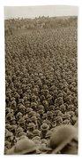A Sea Of Helmets World War One 1918 Bath Towel