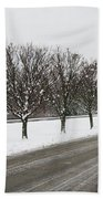 A Sequence Of Trees Bath Towel