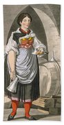 A Serving Girl At An Inn Hand Towel