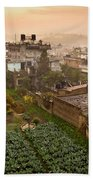 A Skyline View Of Roof Tops Bath Towel