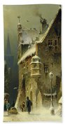 A Small Town In The Rhine Hand Towel