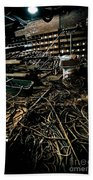 A Snake Pit Of Wires Bath Towel