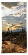 A Sonoran Desert Sunset  Bath Towel