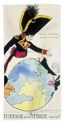 A Stoppage To A Stride Over The Globe, 1803 Litho Bath Towel