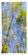 A Summer Forest Bath Towel
