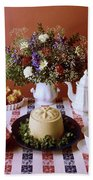 A Table Of Pastries Bath Towel