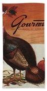 A Thanksgiving Turkey And Pumpkin Hand Towel