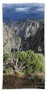A Thunderstorm Is Approaching Over The Black Canyon Bath Towel