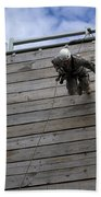 A U.s. Soldier Runs Down A 40-foot Bath Towel