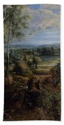 A View Of Het Steen In The Early Morning Bath Towel
