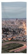 A View Of San Francisco At Twighlight Bath Towel