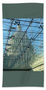 A View Of The Capitol From The Visitor Center Bath Towel