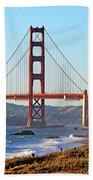 A View Of The Golden Gate Bridge From Baker's Beach  Bath Towel
