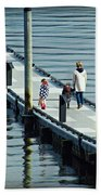 A Walk On The Pier Bath Towel