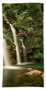 A Waterfall In Hana, Maui Bath Towel