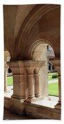 Abbey Fontenay - Cloister Vault  Bath Towel