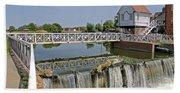 Abbey Mill And Weir Bath Towel