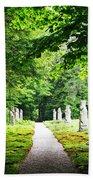 Abby Aldrich Rockefeller Path Statuary Bath Towel