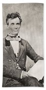 Abraham Lincoln, 1809 – 1865, Seen Here In 1854.  16th President Of The United States Of America Bath Towel