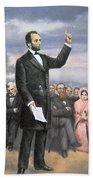 Abraham Lincoln Delivering The Gettysburg Address Bath Towel
