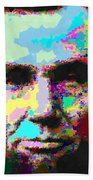 Abraham Lincoln Portrait - Abstract Bath Towel