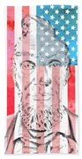 Abraham Lincoln Vintage American Flag Hand Towel
