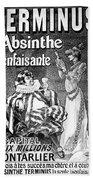 Absinthe Poster, 1892 Bath Towel