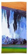 Abstract Arizona Mountains At Icy Dawn Bath Towel