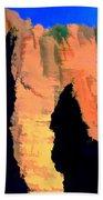 Abstract Arizona Mountains At Sunset Bath Towel